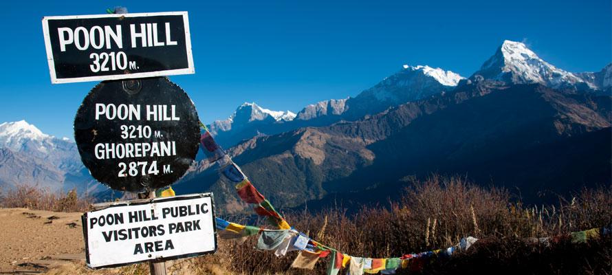 Annapurna; Ghorepani med Poon Hill